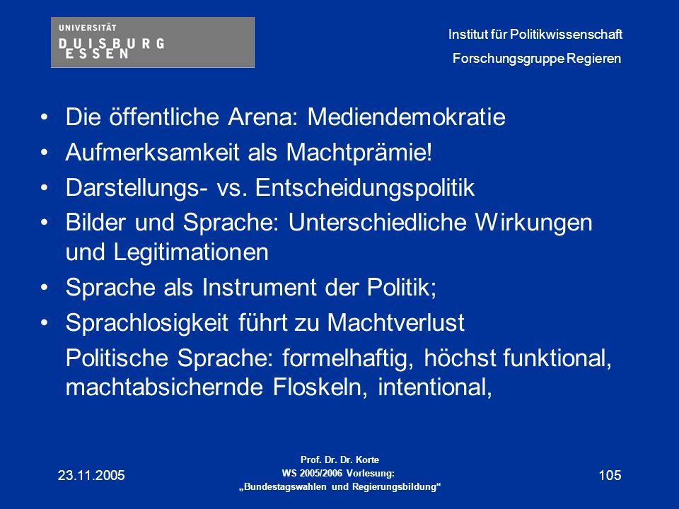 Die öffentliche Arena: Mediendemokratie
