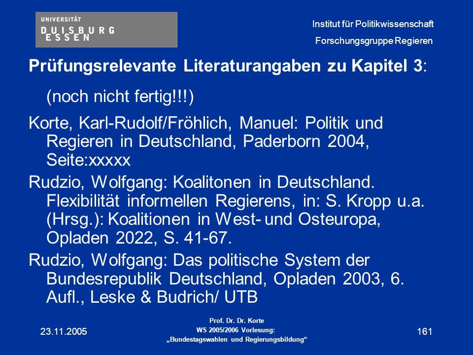 Prüfungsrelevante Literaturangaben zu Kapitel 3: (noch nicht fertig!!!)