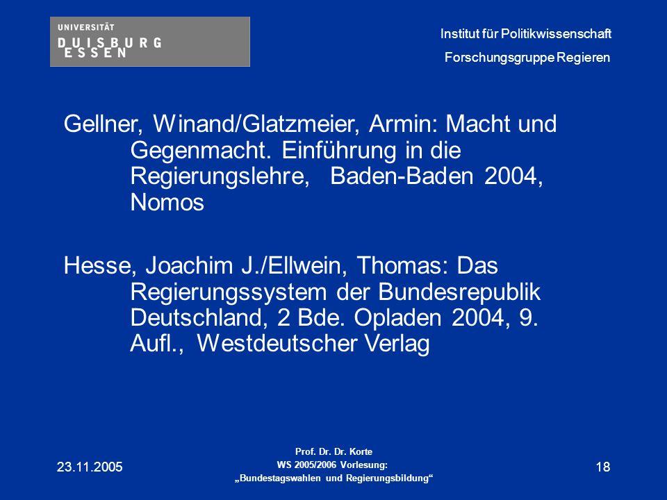 Gellner, Winand/Glatzmeier, Armin: Macht und. Gegenmacht