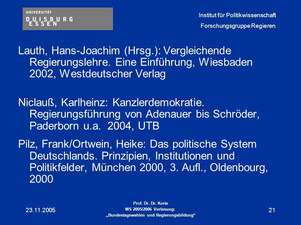 Lauth, Hans-Joachim (Hrsg. ): Vergleichende Regierungslehre