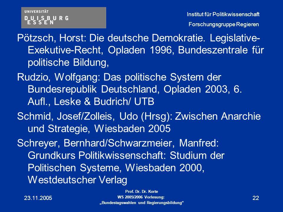 Pötzsch, Horst: Die deutsche Demokratie
