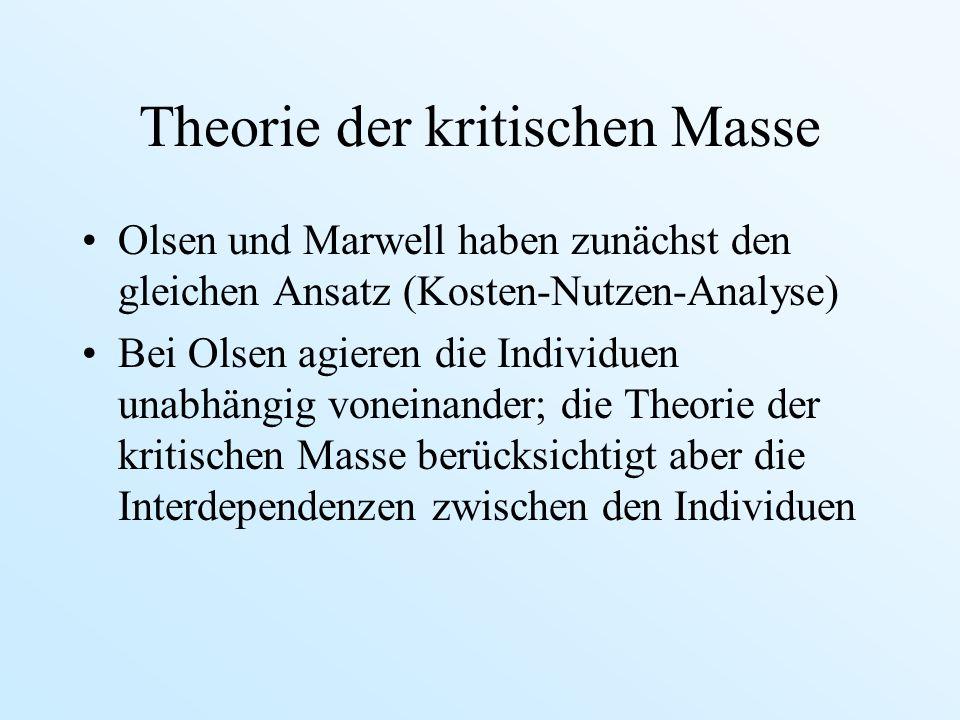Theorie der kritischen Masse