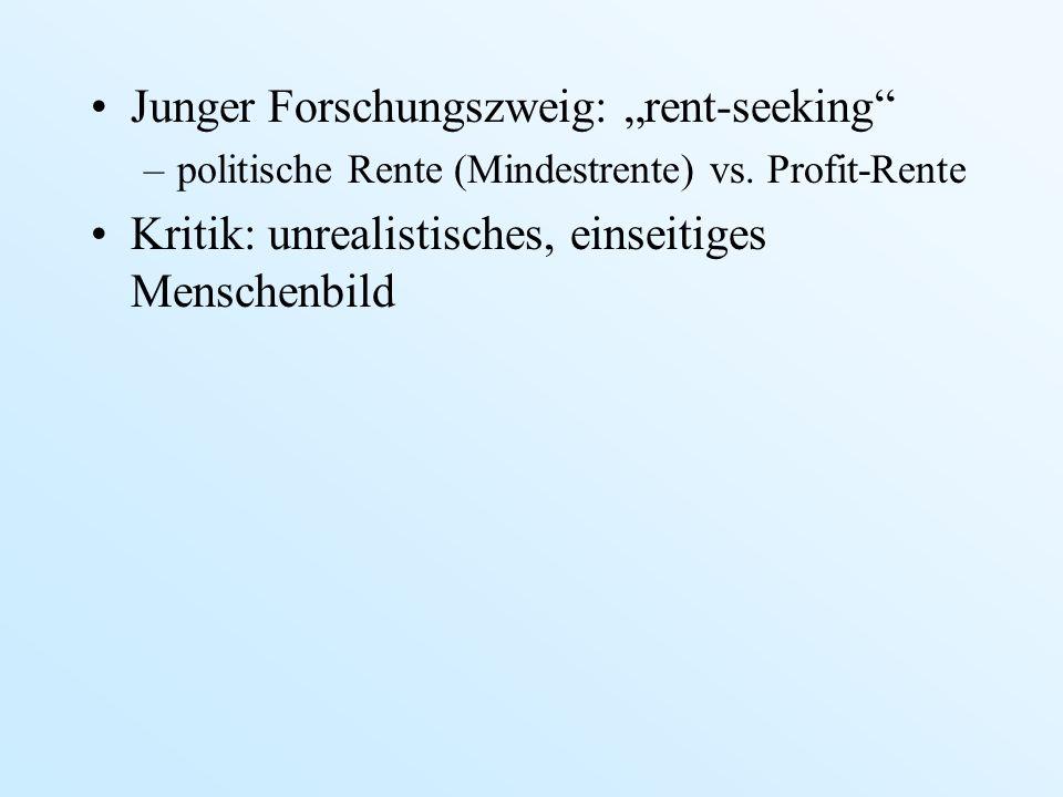 """Junger Forschungszweig: """"rent-seeking"""
