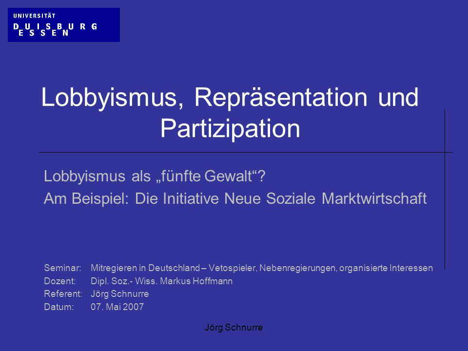 Lobbyismus, Repräsentation und Partizipation