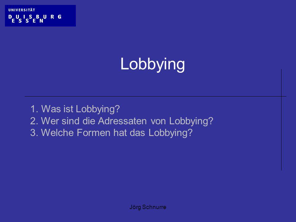 Lobbying 1. Was ist Lobbying 2. Wer sind die Adressaten von Lobbying