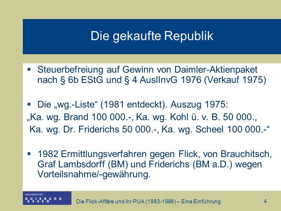 Die gekaufte Republik Steuerbefreiung auf Gewinn von Daimler-Aktienpaket nach § 6b EStG und § 4 AuslInvG 1976 (Verkauf 1975)