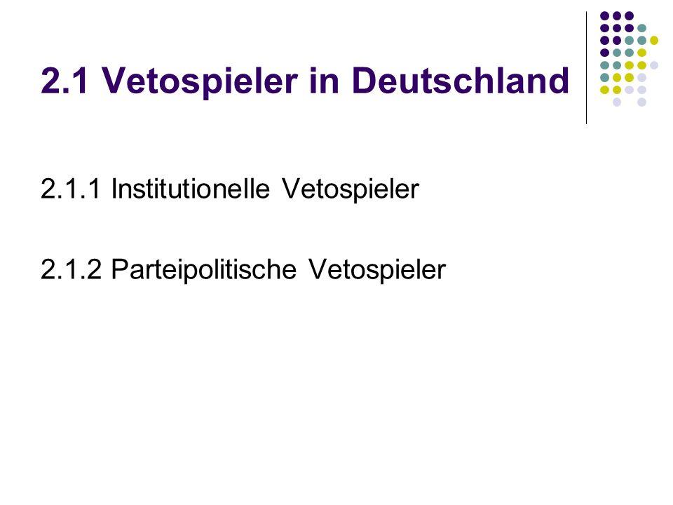 2.1 Vetospieler in Deutschland