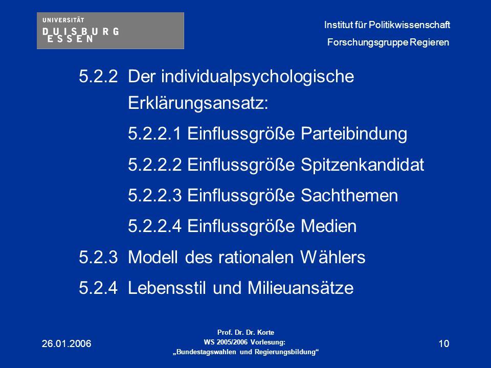 5.2.2 Der individualpsychologische Erklärungsansatz: