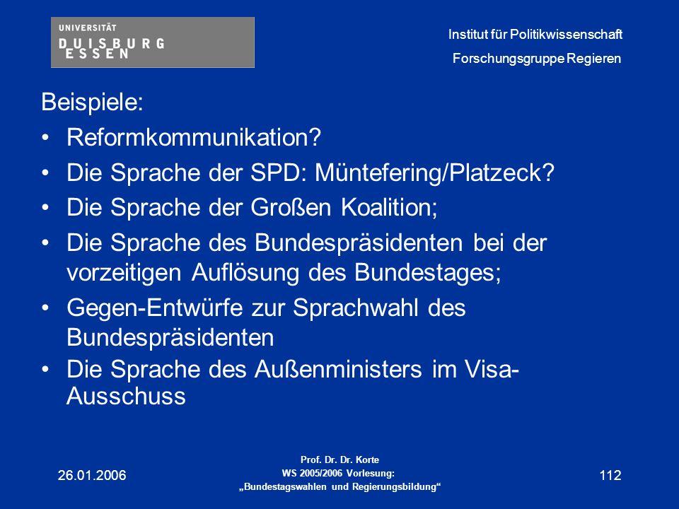 Die Sprache der SPD: Müntefering/Platzeck
