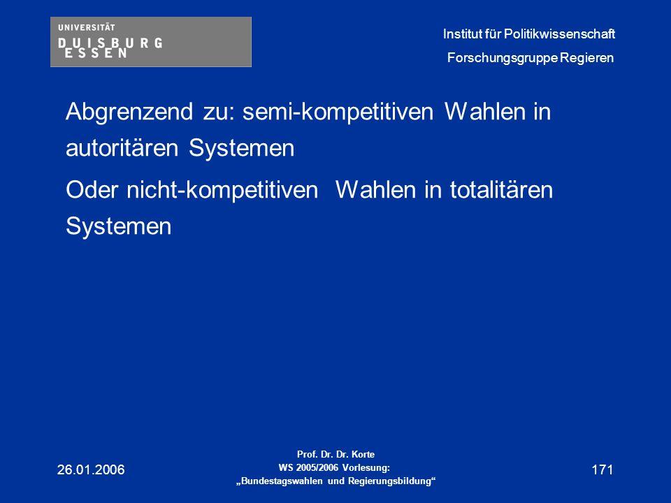 Abgrenzend zu: semi-kompetitiven Wahlen in autoritären Systemen