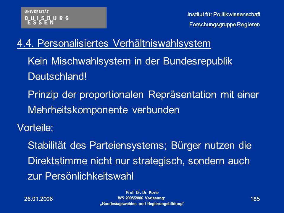4.4. Personalisiertes Verhältniswahlsystem