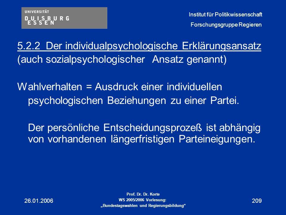 5.2.2 Der individualpsychologische Erklärungsansatz