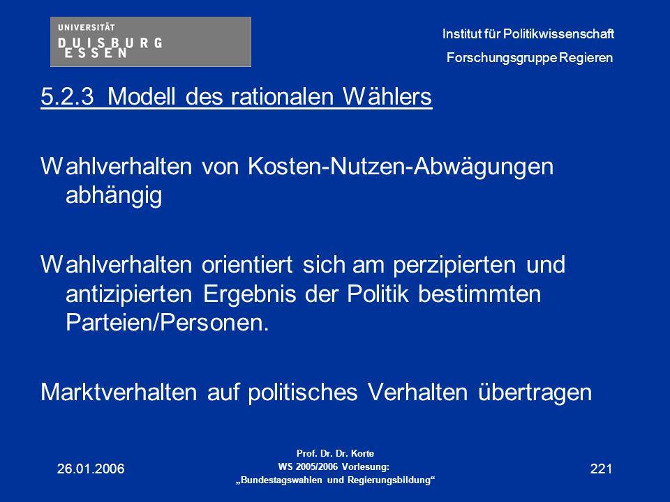 5.2.3 Modell des rationalen Wählers
