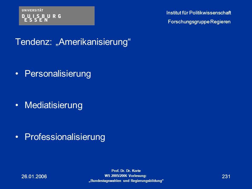 """Tendenz: """"Amerikanisierung"""