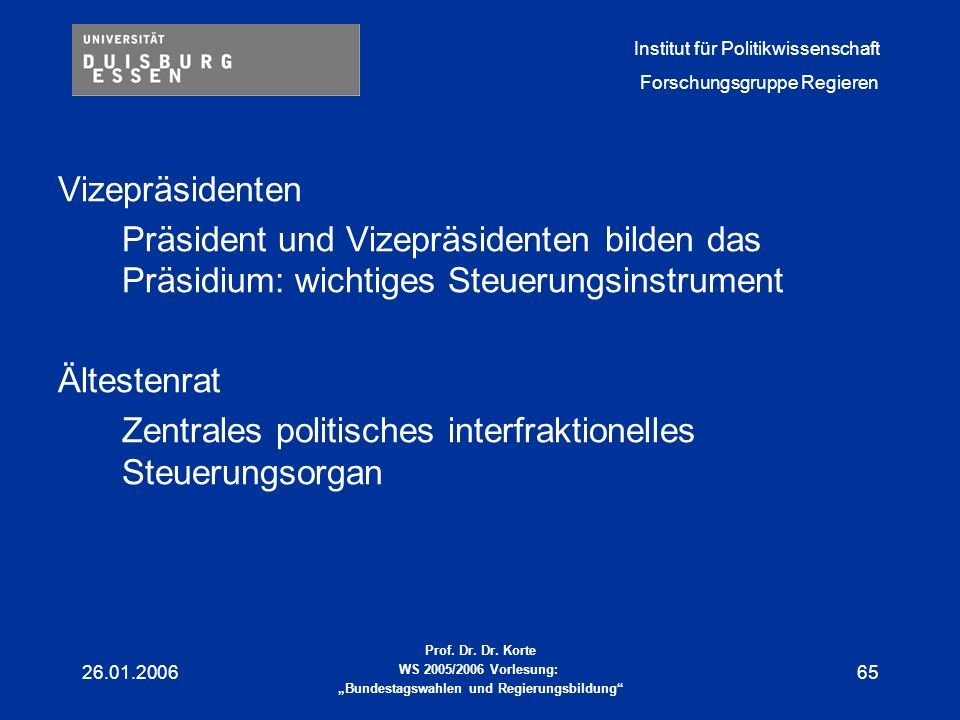 Zentrales politisches interfraktionelles Steuerungsorgan
