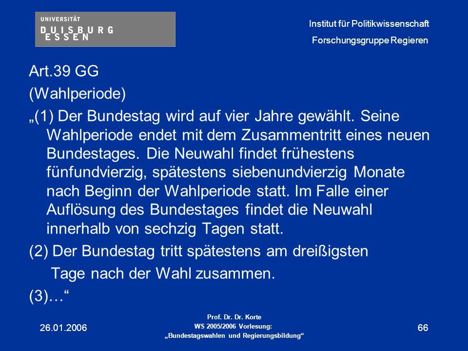 (2) Der Bundestag tritt spätestens am dreißigsten