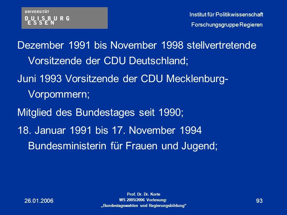 Juni 1993 Vorsitzende der CDU Mecklenburg-Vorpommern;
