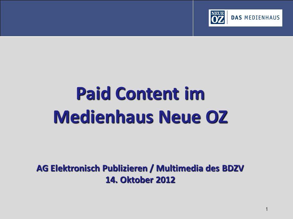 AG Elektronisch Publizieren / Multimedia des BDZV