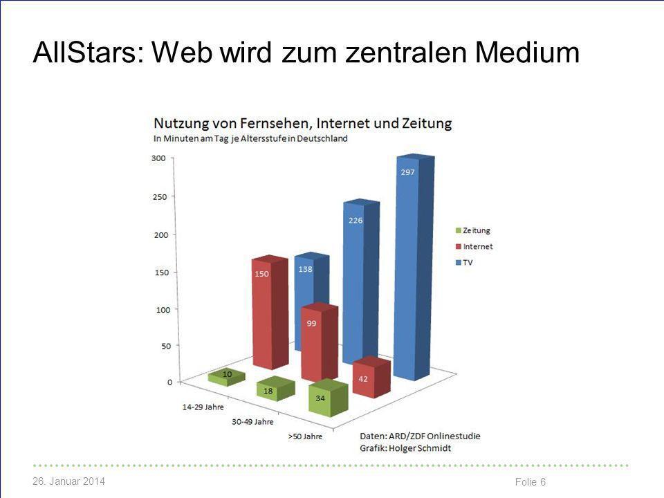 AllStars: Web wird zum zentralen Medium
