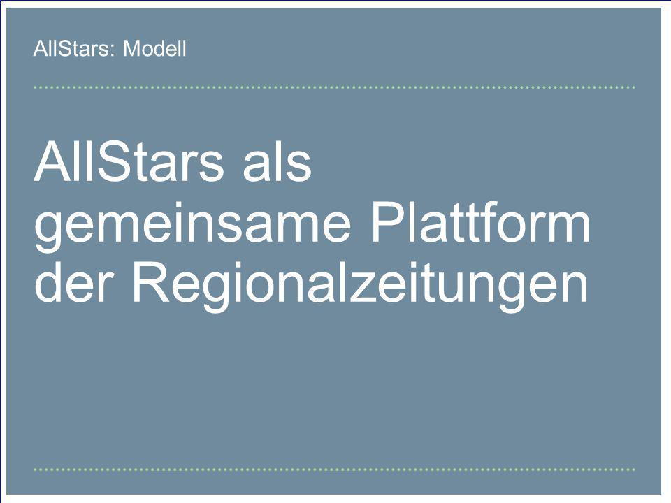 AllStars als gemeinsame Plattform der Regionalzeitungen