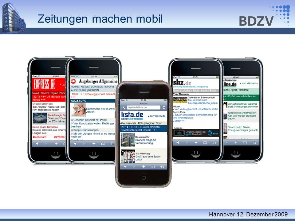 Zeitungen machen mobil