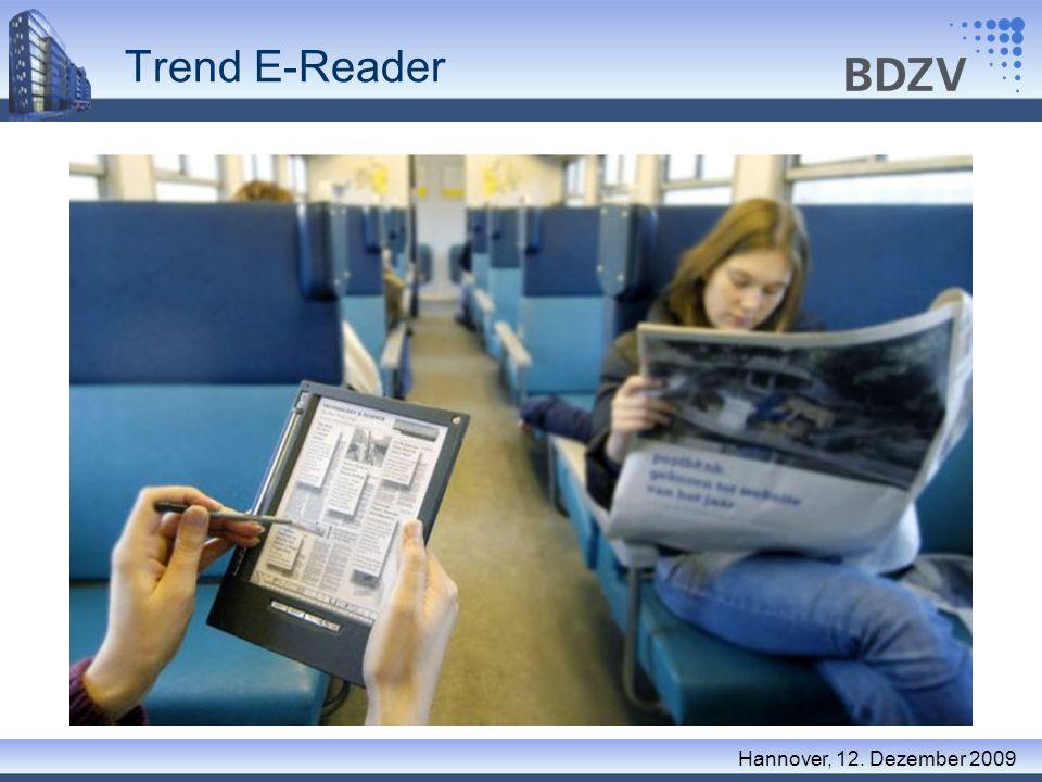 Trend E-Reader Hannover, 12. Dezember 2009 Was kommt nach Papier