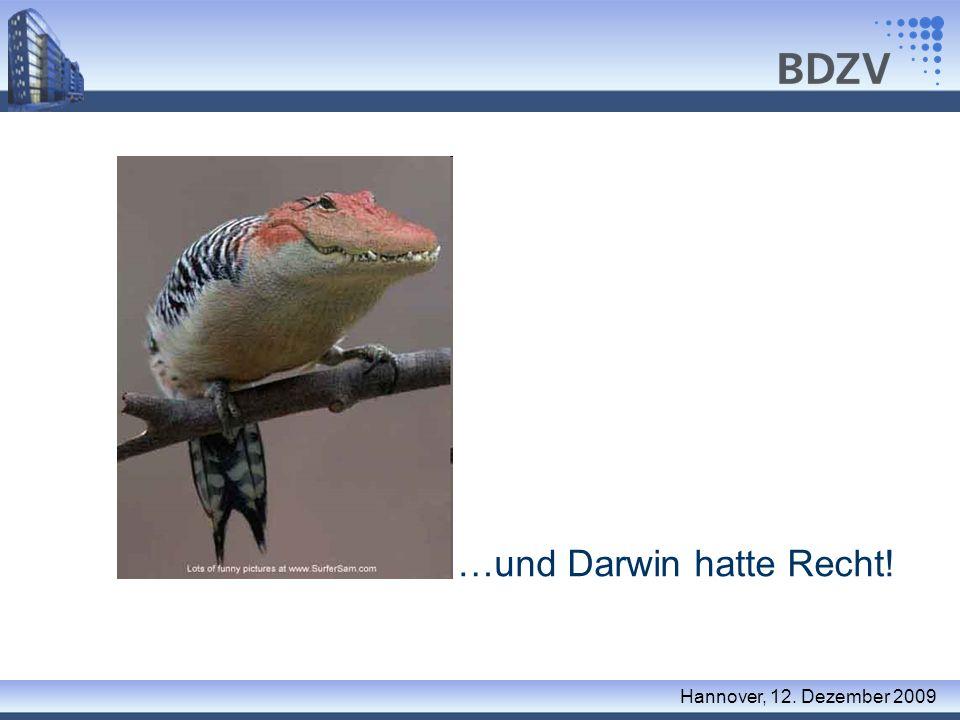 …und Darwin hatte Recht!