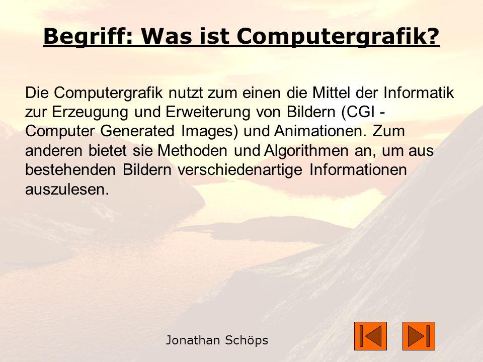 Begriff: Was ist Computergrafik