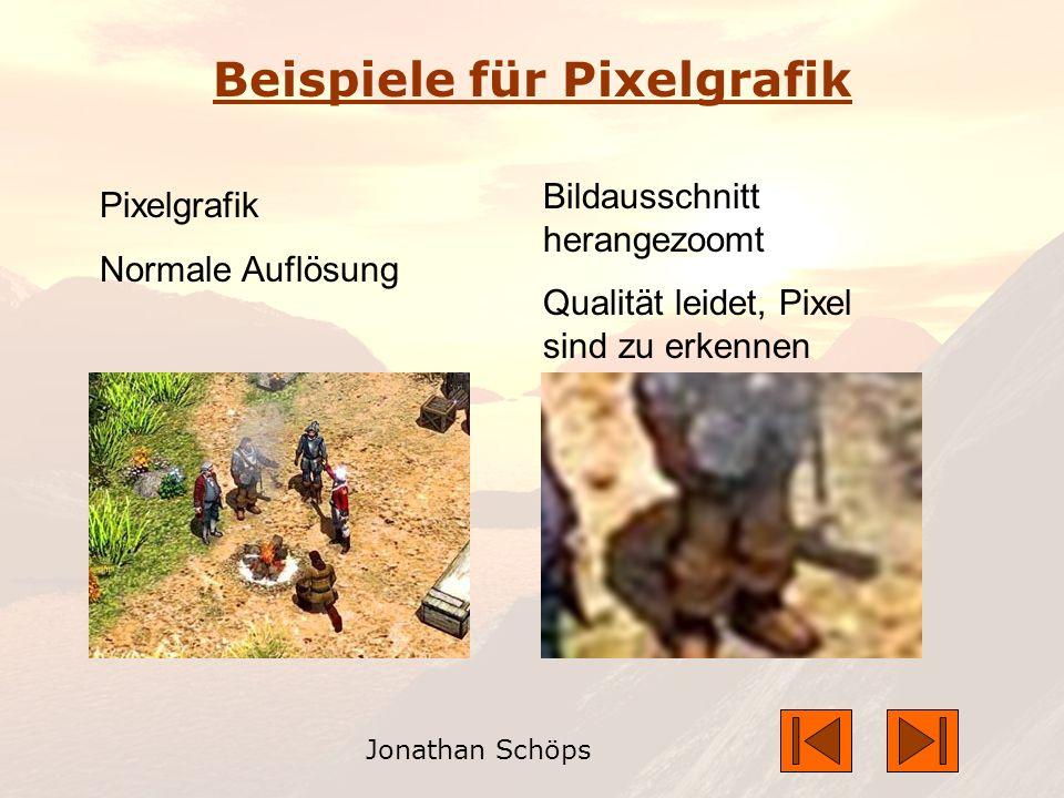 Beispiele für Pixelgrafik