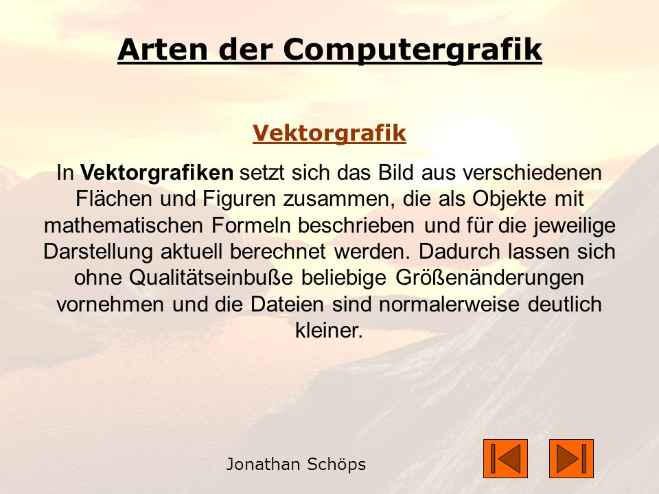 Arten der Computergrafik
