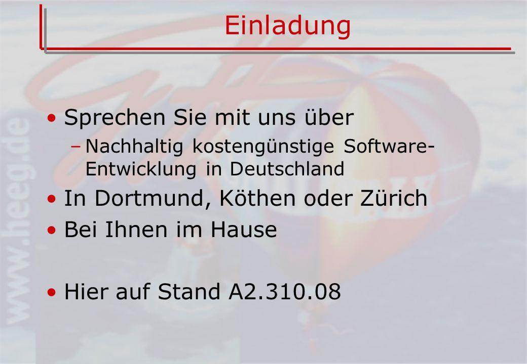 Einladung Sprechen Sie mit uns über In Dortmund, Köthen oder Zürich