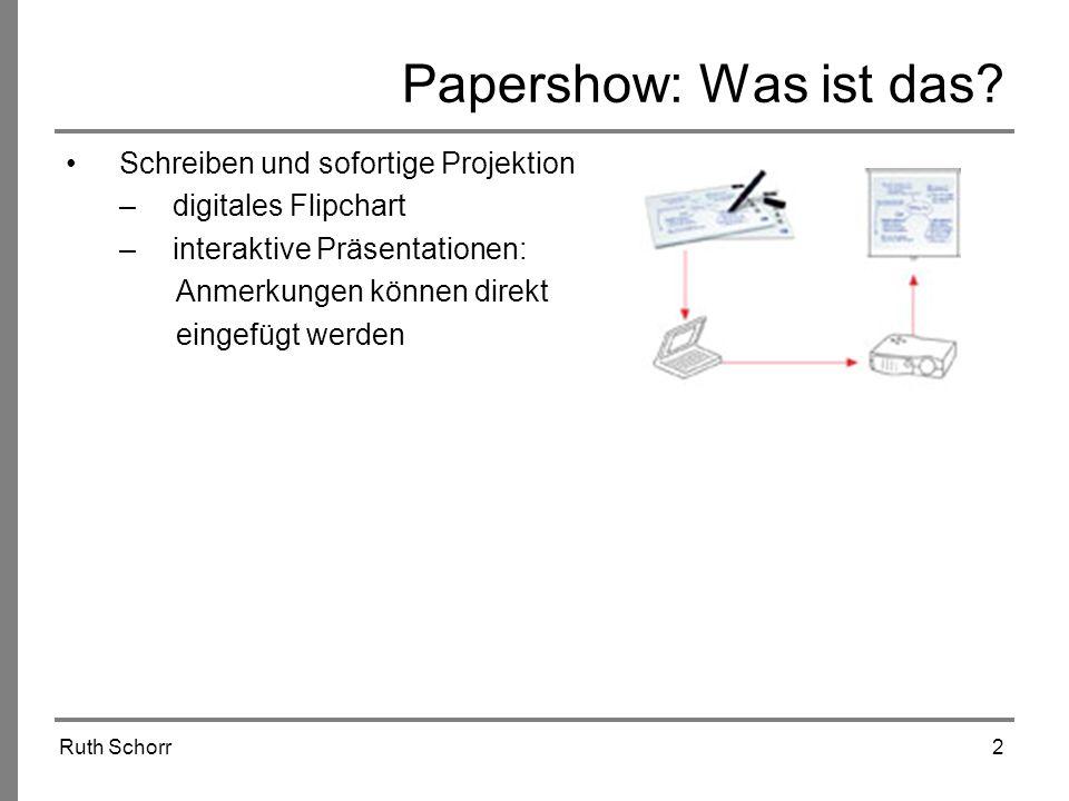Papershow: Was ist das Schreiben und sofortige Projektion