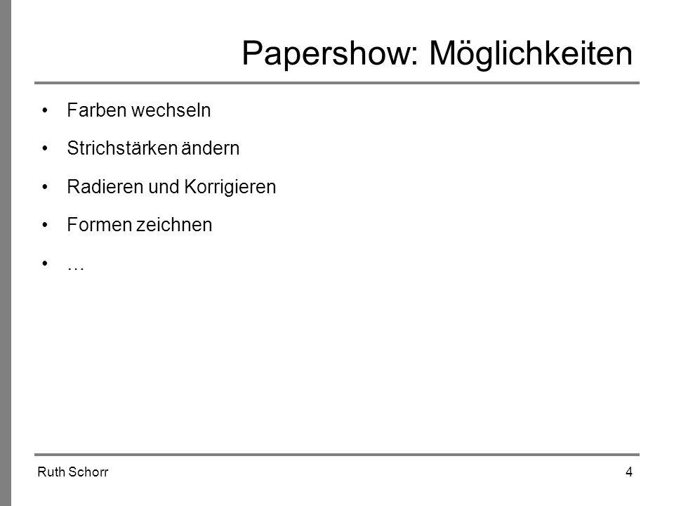 Papershow: Möglichkeiten