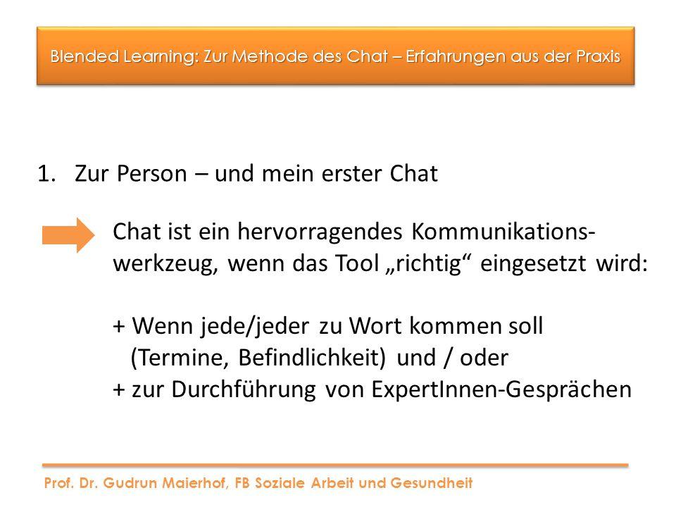 Blended Learning: Zur Methode des Chat – Erfahrungen aus der Praxis