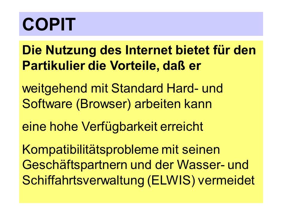 COPIT Die Nutzung des Internet bietet für den Partikulier die Vorteile, daß er.