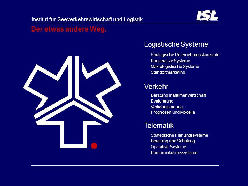 Der etwas andere Weg. Logistische Systeme Verkehr Telematik