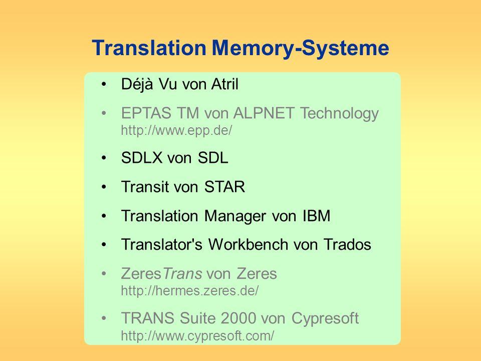 Translation Memory-Systeme