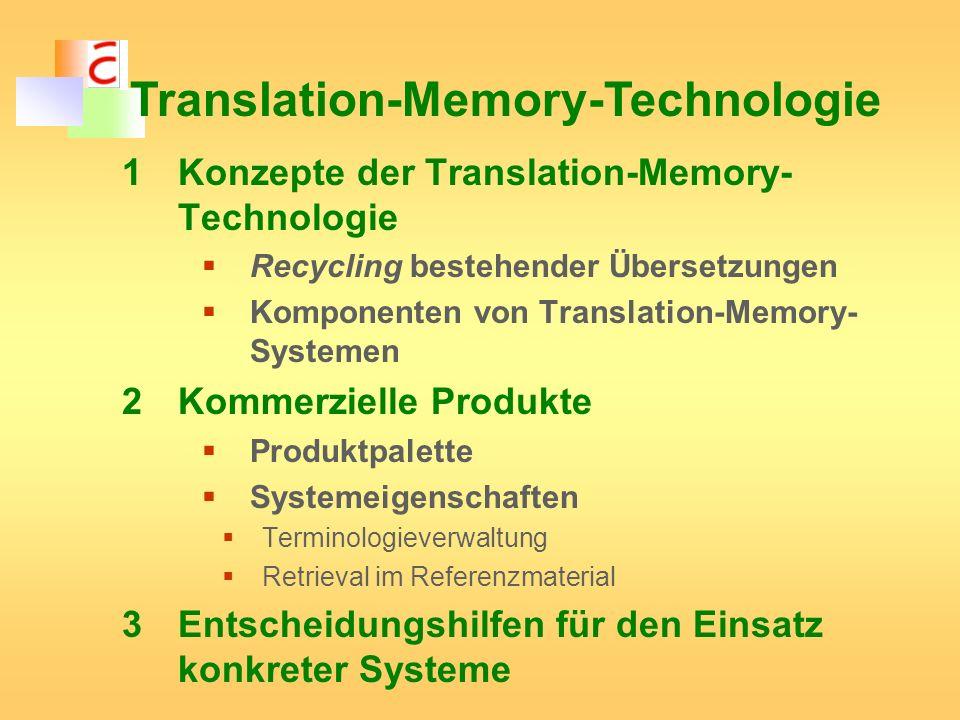 Translation-Memory-Technologie