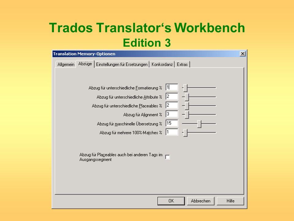 Trados Translator's Workbench Edition 3