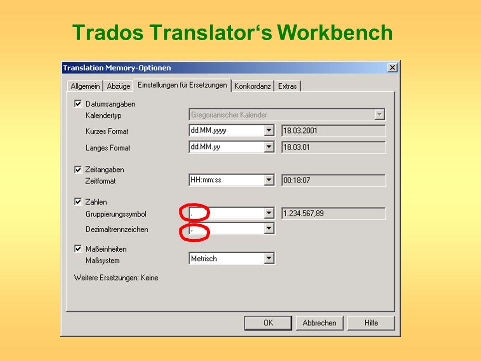 Trados Translator's Workbench