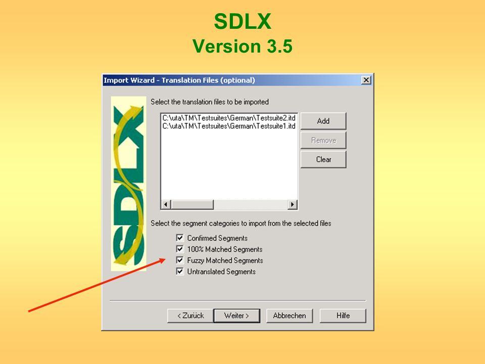 SDLX Version 3.5