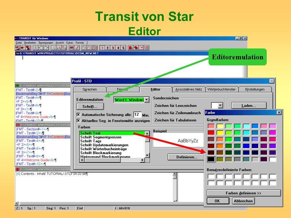 Transit von Star Editor
