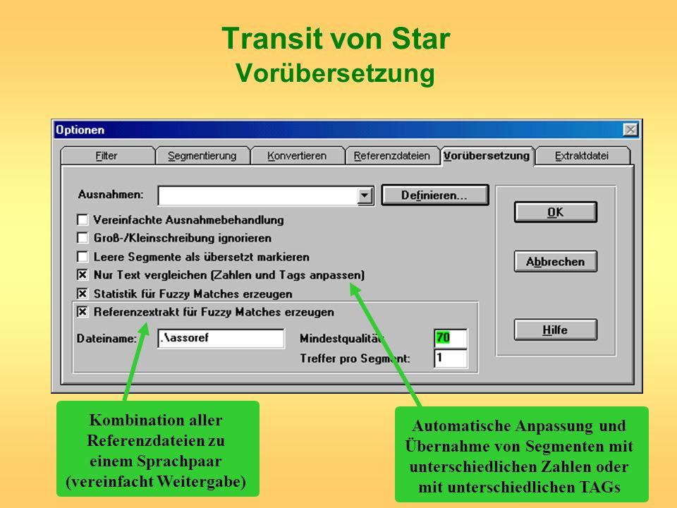 Transit von Star Vorübersetzung