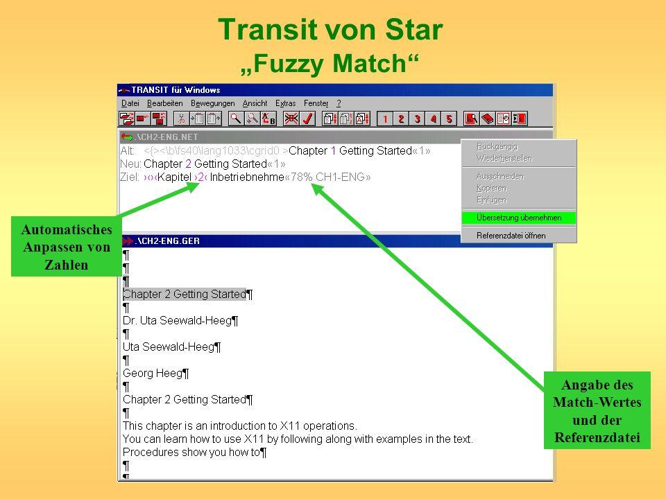 """Transit von Star """"Fuzzy Match"""