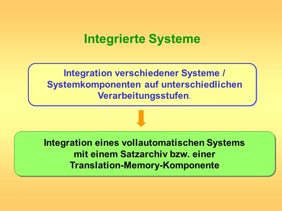 Integrierte SystemeIntegration verschiedener Systeme / Systemkomponenten auf unterschiedlichen Verarbeitungsstufen.