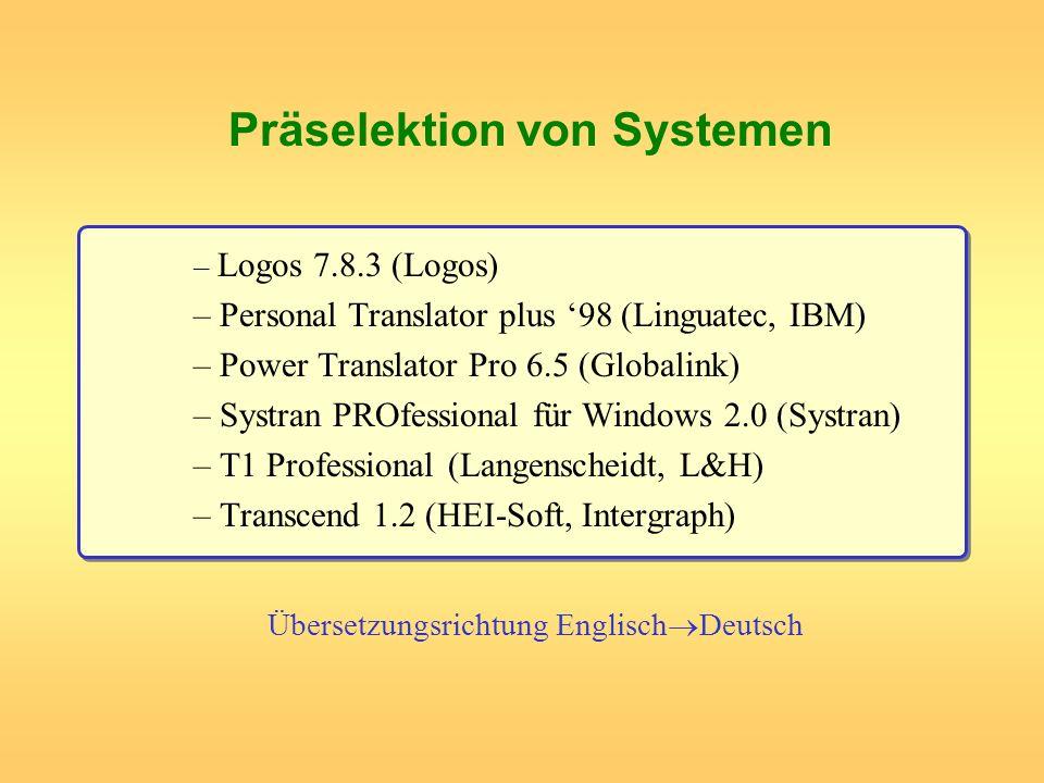Übersetzungsrichtung EnglischDeutsch