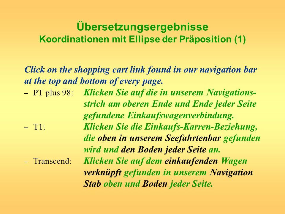 Übersetzungsergebnisse Koordinationen mit Ellipse der Präposition (1)