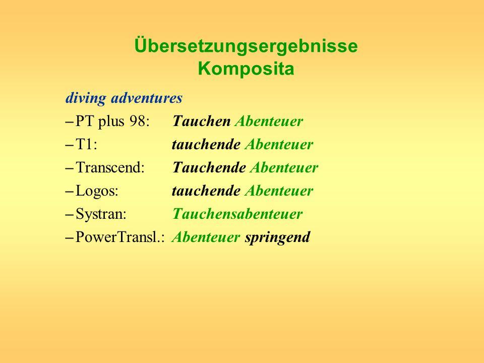 Übersetzungsergebnisse Komposita