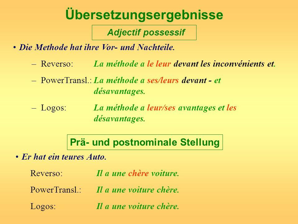 Übersetzungsergebnisse Adjectif possessif