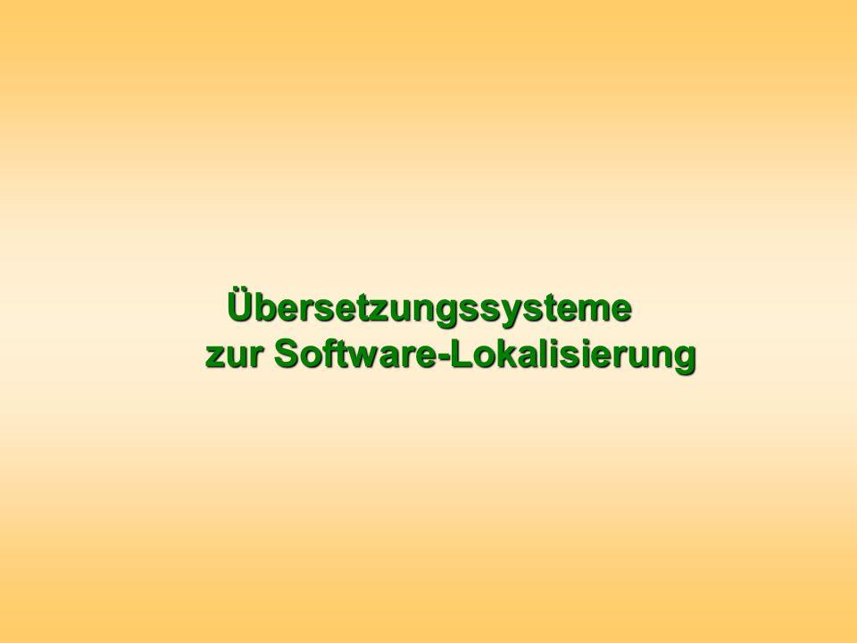 Übersetzungssysteme zur Software-Lokalisierung